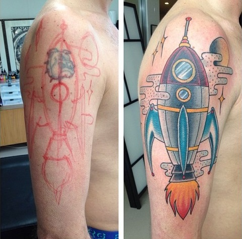 Rocket Cover Tattoo